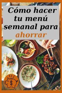 ahorrar con el menu semanal